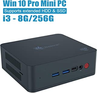 Beelink U55 Mini PC Windows10 Pro, Intel Core i3-5005U Processor 8GB/256GB M.2 SSD, Supports Extended RAM & SSD/4K@60Hz/Dual HDMI/Dual WiFi /BT4.0/ Fan