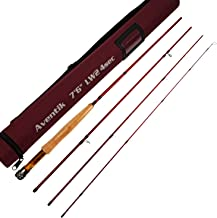 Aventik Z Short & Light Ultra Light IM12 Fly Rods 7'6'' LW2, 8'0'' LW3, 8'6'' LW4, All in 4 Pieces Fast Action Super Compact Freshwater Fly Rods