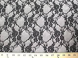 SyFabrics stretch lace fabric 58 inches wide Black