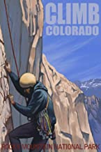 Rocky Mountain National Park, Colorado - Rock Climber (12x18 Art Print, Wall Decor Travel Poster)