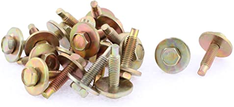 uxcell 20Pcs Bronze Tone Car Metal Screw Body Fender Retainer Clips