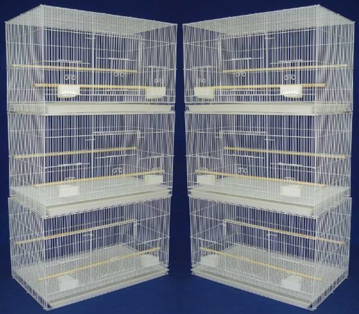 Lot of 6 Aviary Breeding Bird Finch Parakeet Finch Flight Cage 24  x 16  x 16  White by Mcage