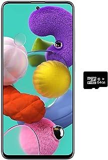 """Samsung Galaxy A51 (128GB, 4GB) 6.5"""", 48MP Quad Camera, Dual SIM GSM Unlocked A515F/DS- US + Global 4G LTE International Model (Prism Crush White, 128GB + 64GB SD + Case Bundle)"""