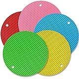 Cozihom - Sottopentola in silicone colorato, multifunzione, tappetino isolante in silicone antiscivolo, extra spesso, 5 confezioni