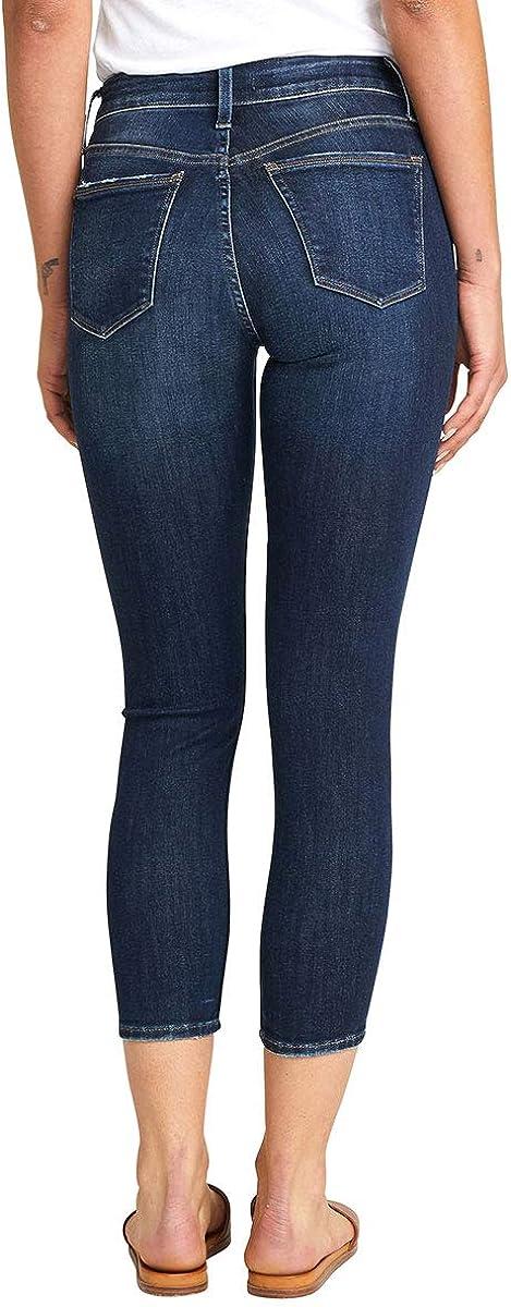 Silver Jeans Co. Avery Curvy Fit Jeans Crop Jean taille haute pour femme Rinçage Foncé.