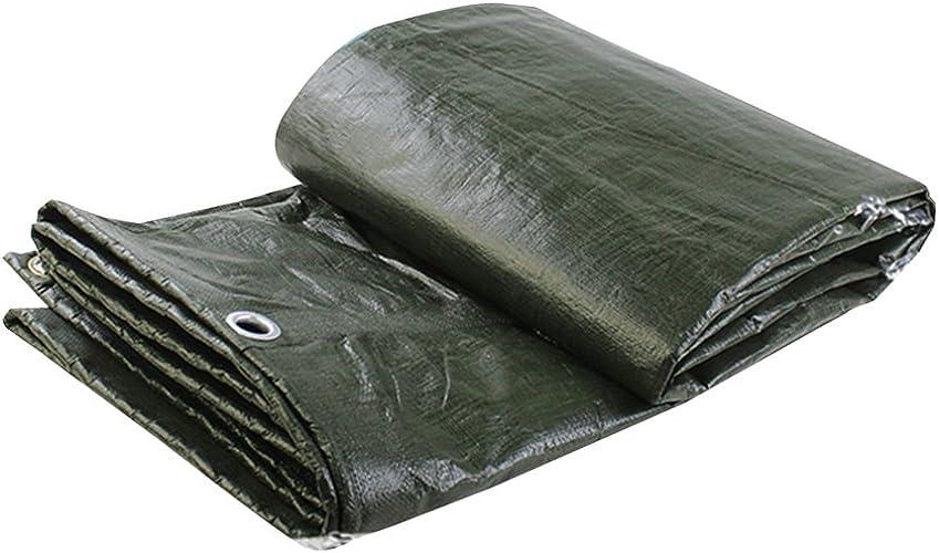 LJL Bache imperméable Bache étanche Camion Solaire crème Anti-poussière Ombre Prougeection Bois Haute température résistance à la Corrosion, Vert foncé Bache Robuste (Couleur   Dark vert, Taille   2x4M)
