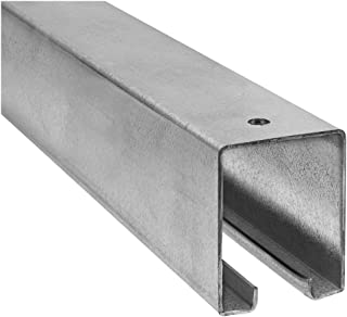 National Hardware Stanley N105-726 5116 Plain Box Rail in Galvanized Steel, 8'