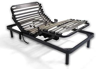 Duérmete Online Cama articulada eléctrica Reforzada-Disponible en Varias Medidas, Haya, Gris, 90x190