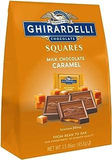 Ghirardelli Milk and Caramel Squares XL Bag, Milk Chocolate Caramel, Caramel, 15.97 Ounce