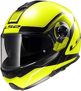 LS2 503252054XS FF325 Casco Strobe Civik, Color Hi/Vis Amarillo/Negro, Tamaño XS