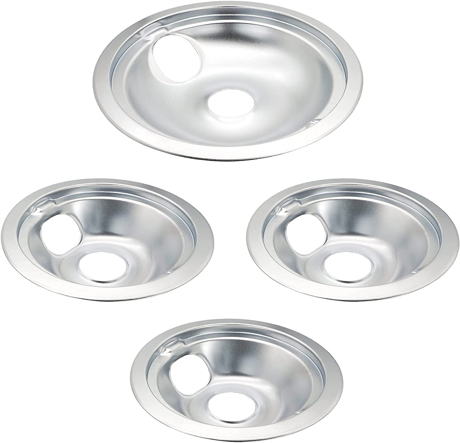 Siwdoy WB31T10010 Max 52% OFF and WB31T10011 Replacement Co Drip Pans depot Chrome