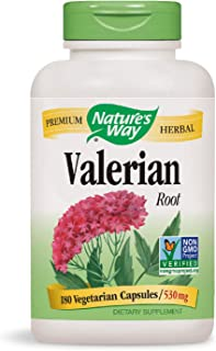 Nature's Way Valerian Root, 1,590 mg, 180 Vegetarian Capsules, Pack of 2