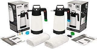 The Rag Company - iK Pump Sprayer Combo Kit (2-Pack) iK Foam Pro 2 Professional Auto Detailing Foamer + iK Multi Pro 2 Multi-Purpose Pressure Sprayer with Premium Microfiber Towels