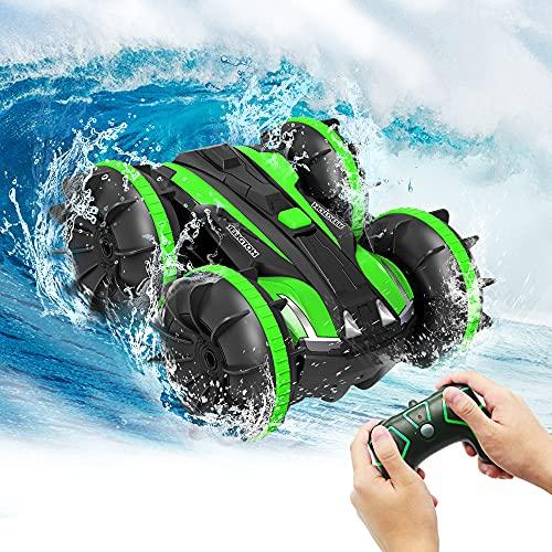 Spielzeug für 5-13 Jahre alte Jungen Amphibien RC Auto für Kinder 2,4GHz Fernbedienung 360 °Drehung Off Road Wasserdichtes 4WD Fernbedienungsfahrzeug Mädchen Geschenke Wasser Strand Pool Spielzeug