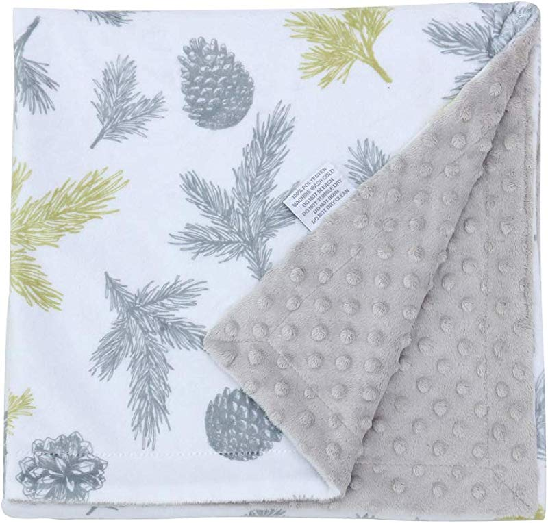 Millian Baby Minky Dot Warm Baby Blanket X Large Soft Plush Double Layered Comfort Gender Neutral Receiving Blankie For Boys And Girls