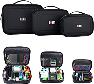 Portable 3pcs/Set Electronic Accessories Travel Organizer Case, Waterproof Cable Organizer Bag, Padded Travel Case for Electronics, Cord, Charger, Office Gadget