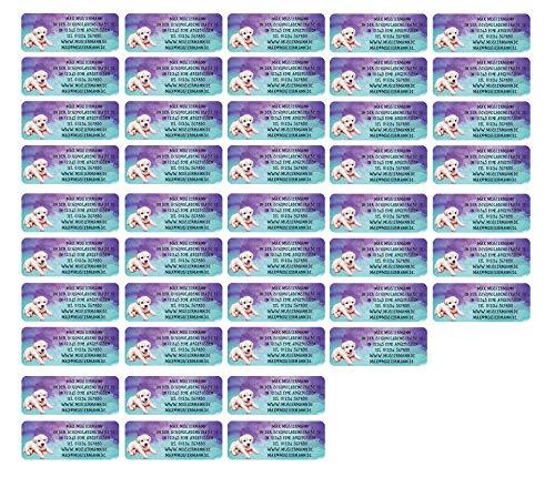 Adressetiketten Adressaufkleber Schmuckblume 210 St/ück 54 x 25 mm 1-5 Zeilen beschriftbar