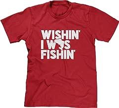 Blittzen Mens T-Shirt Wishin I was Fishin
