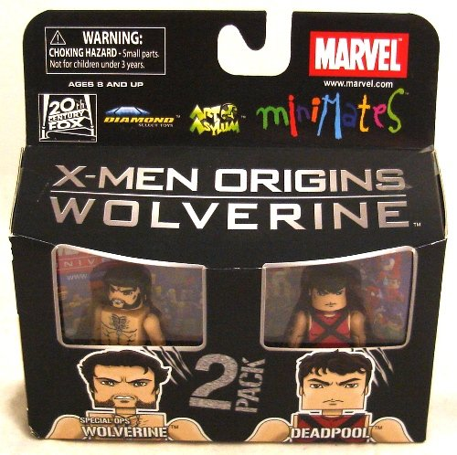Minimates: Marvel Series 26: Wolverine Movie  Deadpool & Special Ops Wolverine Action Figure 2-Pack