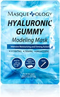 Best Masqueology - Hyaluronic Gummy Modeling Mask | Moisturizes, Smoothes and Firms Face (1 Count) Review