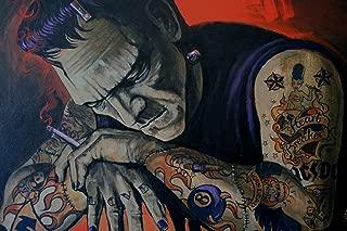 Heart Breaker by Mike Bell Frankenstein Tattoo Halloween Decor Wall Art Print