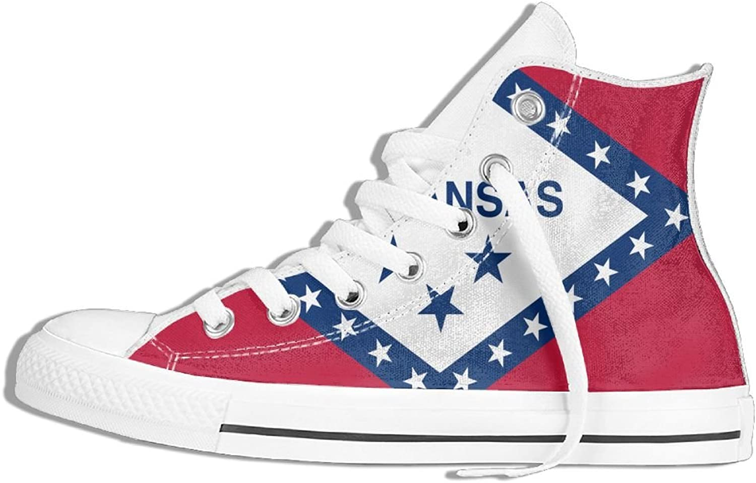 Unisex High Top Sneakers Arkansas Flag Classic Canvas shoes Breathable Sneaker