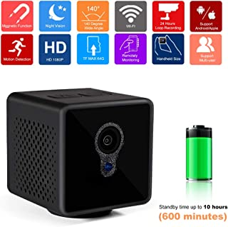 Mini Spy Hidden Camera – Portable WiFi Home Security Wireless Nanny Cam – CARIPORT 1080P Night Vision Outdoor Smart Camera with Motion Detection Life Video Recorders for Office Baby Pets with APP
