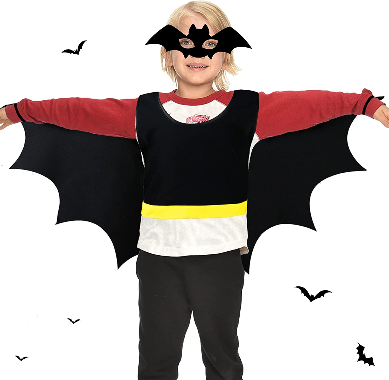 iROLEWIN Fashionable Bat Costume for Wings Halloween Max 51% OFF Kids Mask