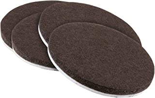 softtouch 4723695N 3 Inch, Brown, 4 Pack Heavy Duty Felt Furniture Pads-Protect Hardwood and Linoleum Floors frim Scratches, 4 Piece