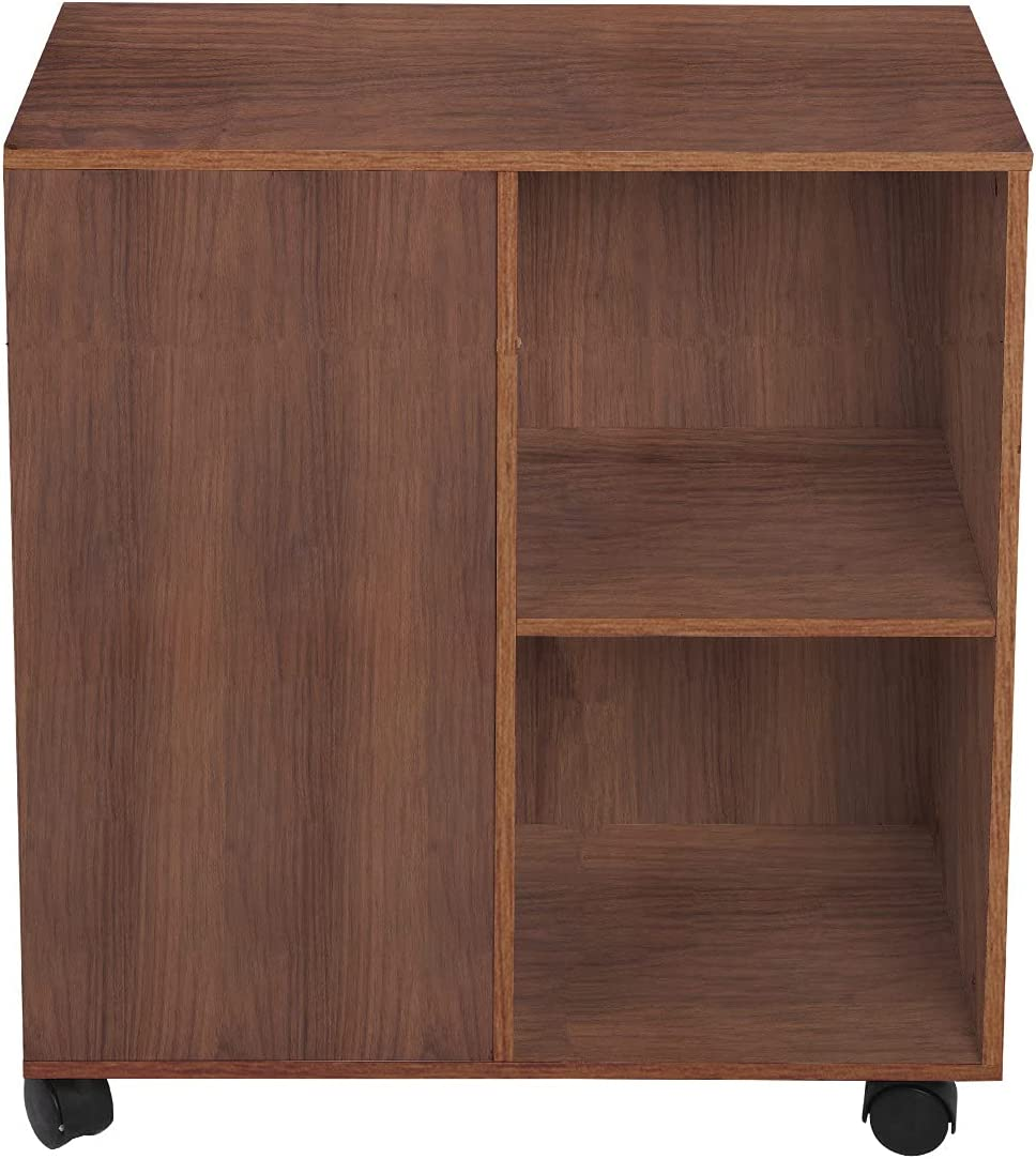 2 Drawer All items free shipping cheap Mobile Wood File Cabinet Rol with Wotryit Printer Stand