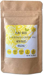 Plant Based Omelet/Scramble Mix with Veggies (6 x 2 oz Packs)|Original Flavor|No Eggs,Vegan,Soy Free,Gluten Free