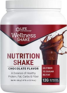 Life Extension Wellness Chocolate Nutrition Shake, 656 Gram