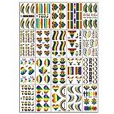 Orgoglio LGBT Love Rainbow Pride Flag Stickers-Festival Parade Bomboneras suministros decoración