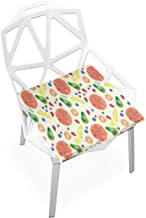Pingshoes Seat Cushion Exclusive Summer Watercolor Fruit Pattern Chair Cushion Offices Butt Chair Pads Square Car Mat for Student