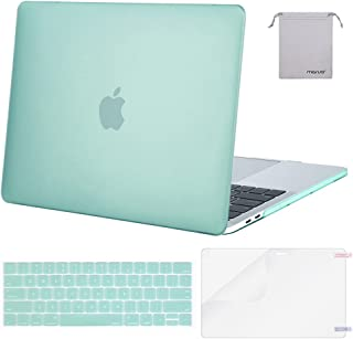 MOSISO MacBook Pro 13 inch Case 2019 2018 2017 2016 Release A2159 A1989 A1706 A1708, Plastic Hard Shell &Keyboard Cover &Screen Protector &Storage Bag Compatible with MacBook Pro 13, Mint Green