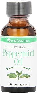 LorAnn Natural Flavoring Oils, Natural Peppermint Oil, 1 Ounce Bottle