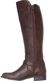 G By Guess Womens Harson5 Closed Toe Knee High Fashion Boots, Brown, Size 6.0