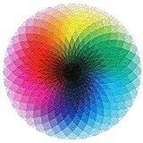 Greenbang Rompecabezas Rompecabezas De Gradiente De 1000 Piezas Rompecabezas Redondo Colorido del Arco Iris Juego Educativo para Aliviar El Estrés para Niños Adultos (Round Rainbow Puzzles)