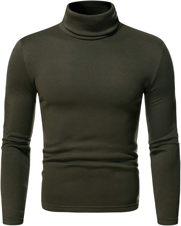 Men's Soft Sweater Thermal Shirt Top Base Layer Long Sleeve Winter Pullover Sweatshirt