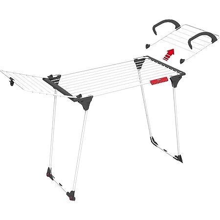 Vileda – Séchoir à linge Premium 2in1 – Étendoir à linge avec aile détachable pour radiateur ou petit balcon – Avec une capacité de séchage de 18 m