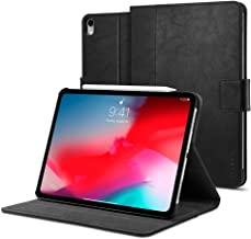Spigen Apple iPad PRO 12.9 inch (2018) Stand Folio Leather stand cover/case - Black - Version 2 Apple Pencil compatible with Auto Sleep/Wake