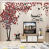 ENCOFT 3D Pegatina de Árbol Vinilos Hojas Negros Adhesivo Decorativo de Pared para Dormitorio Hogar...