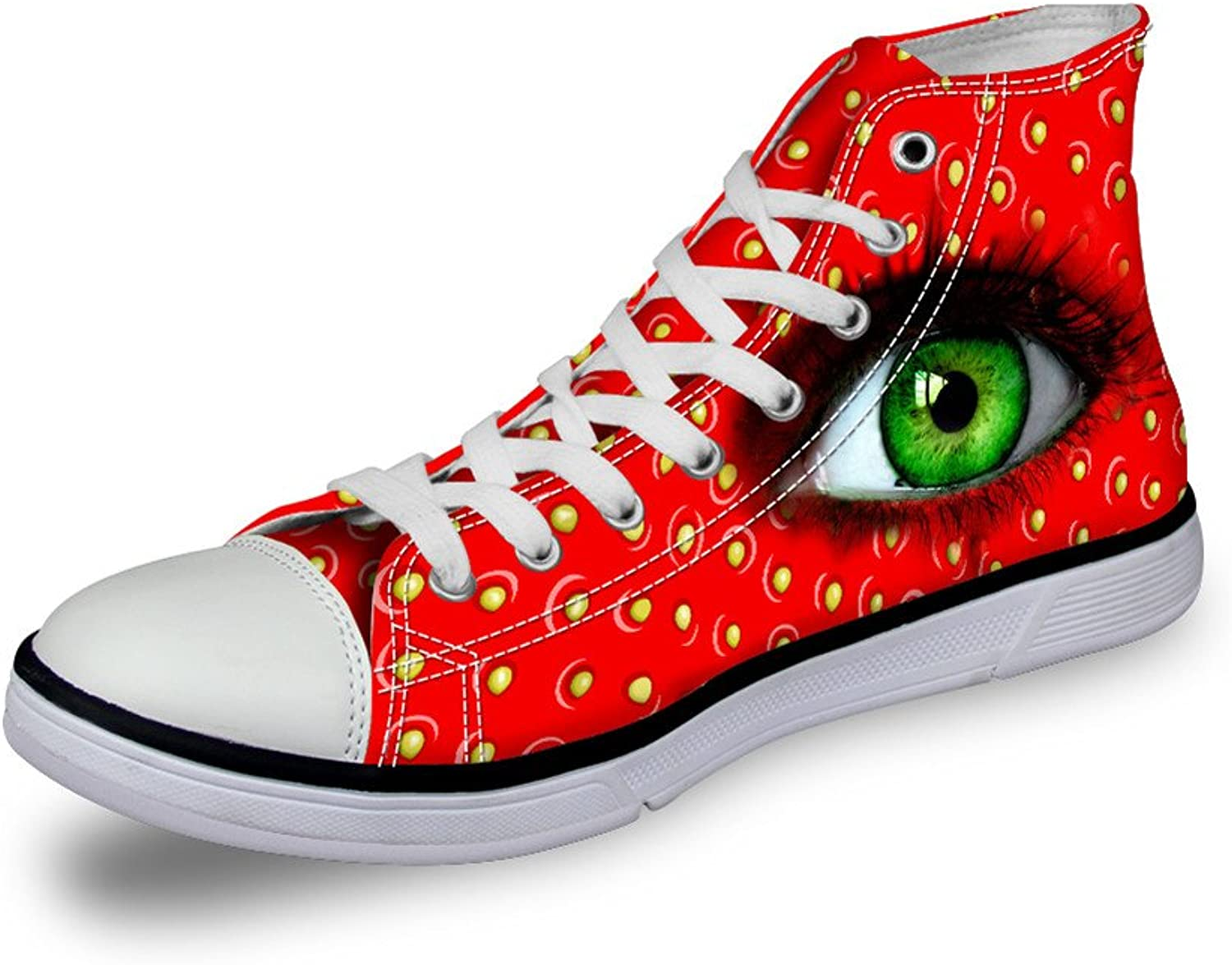 Chaqlin Designer Women Canvas shoes Vivid Pupil Eyes High Top Flat Sneakers