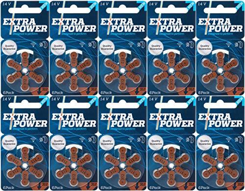シバントス 補聴器用空気電池 PR41(312) 10パック(60粒入り) EXTRA POWER 高品質 ドイツ製 環境に優しい水銀0