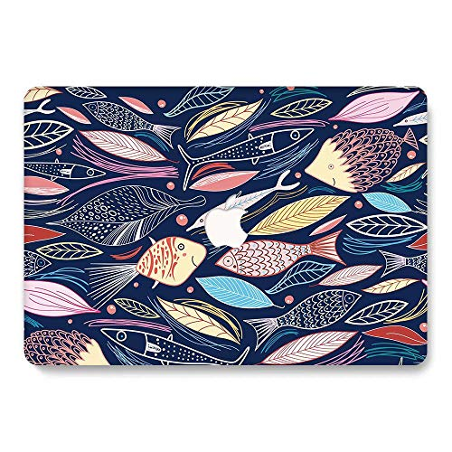 New MacBook Air 13 inch Case 2020 2019 2018 Release A2179 A1932, Jiehb MacBook Protection Case for Newest MacBook Air 13 with Retina Display and Touch ID - Fish
