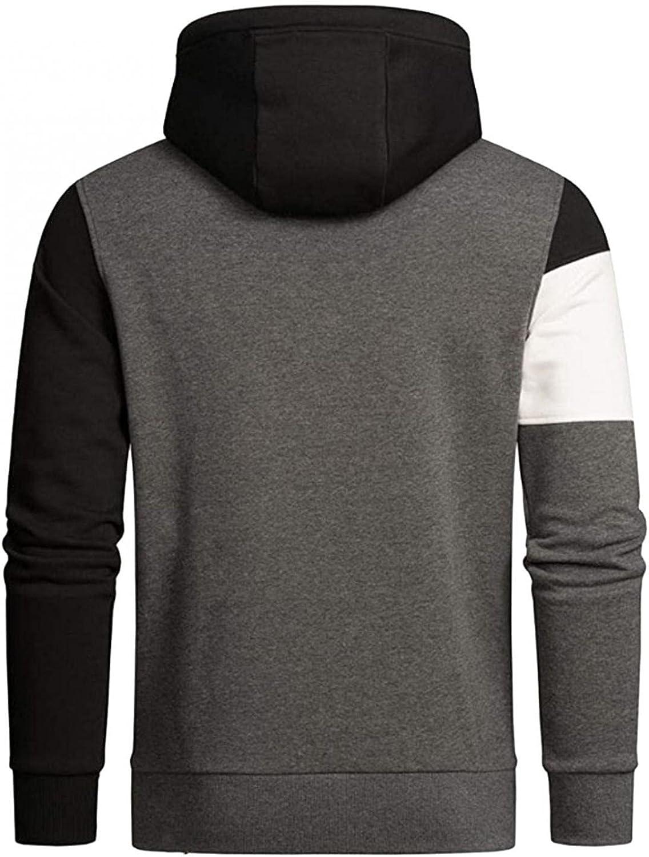 Aayomet Men's Pullover Hoodies Color Block Long Sleeve Crewneck Sweatshirts Casual Workout Sport Tops Sweaters Blouses