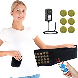 CREATRILL Heated Lumbar Support Lower Back Brace Belt w/Remote Control for Pain Relief, Auto Shut Off Far Infrared Heating Pad Heat Therapy for Lower Back Muscle Injury Herniated Disc, Sciatica