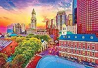 ジグソーパズル2000ピース紙ジグソーパズルボストンの歴史的なスカイライン大きな紙パズルユニークな家の装飾とギフト 70 X 100cm