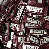 HERSHEY'S Chocolate Bar, Milk Chocolate Snack Size Candy Bar, 5 Pound Bulk Package