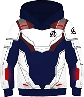 Superhero Hoodie Kids Sweatshirt Jacket Halloween Cosplay Costume